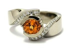 bague diamant mandarin